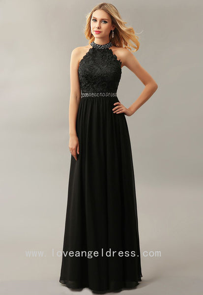 beading-high-neck-lace-chiffon-black-prom-dresses-online
