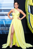 becky-g-yellow-chiffon-dress-with-asymmetric-neckline