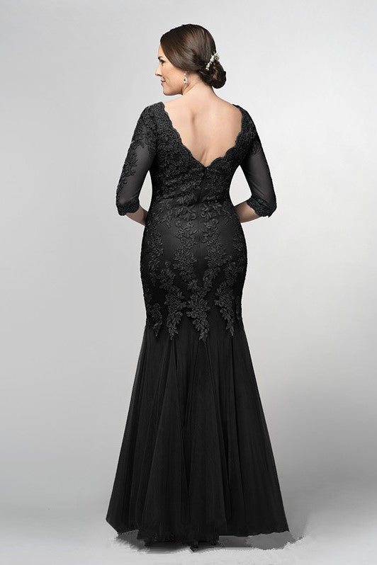 black-mermaid-bride-mother-formal-dress-with-half-sleeves-1