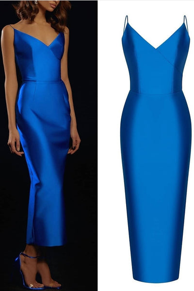 blue-satin-pencil-prom-dresses-with-thin-straps