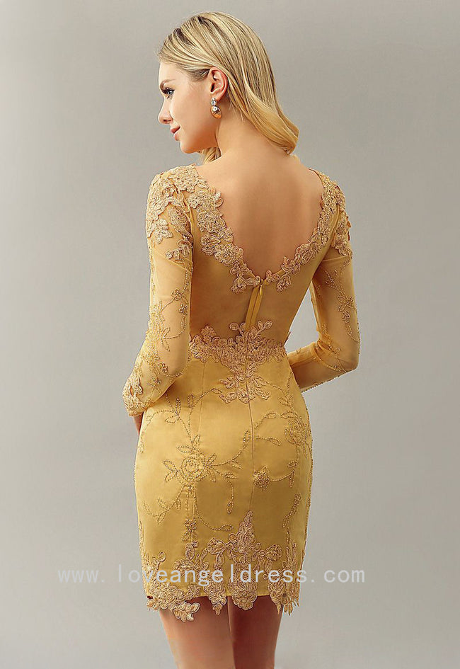 boat-neck-lace-gold-beaded-cocktail-dresses-long-sleeve-1