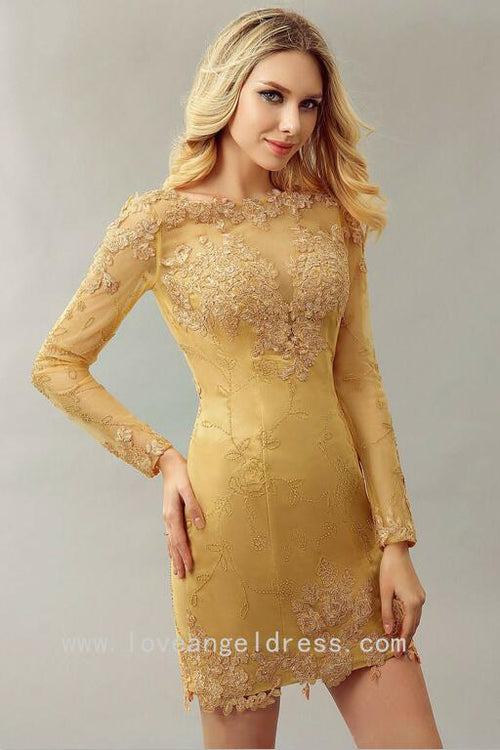 boat-neck-lace-gold-beaded-cocktail-dresses-long-sleeve