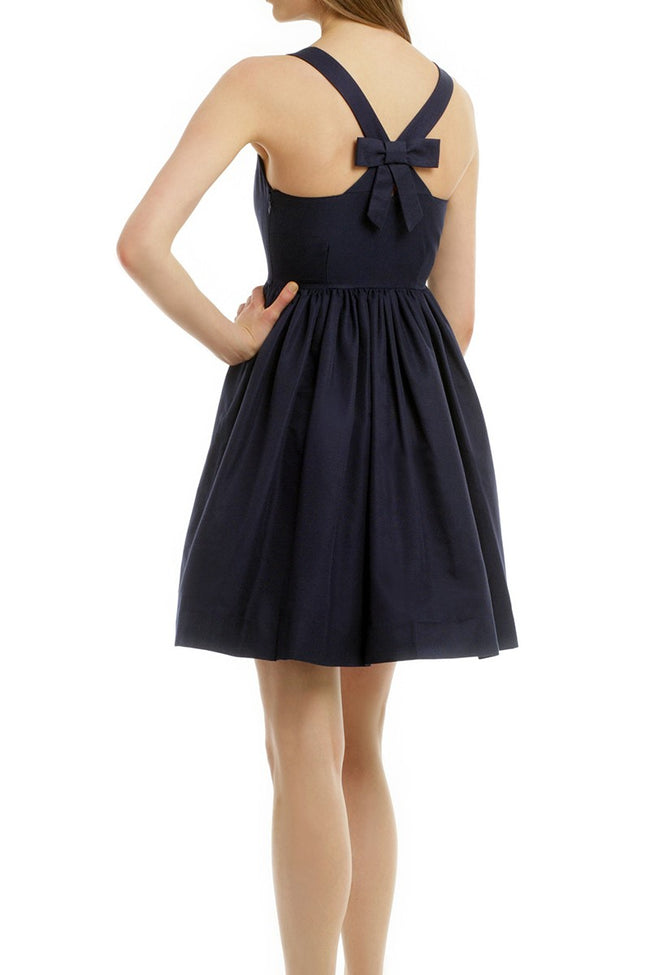 boat-neck-navy-bridesmaid-dress-short-vestido-de-dama-de-honra-1