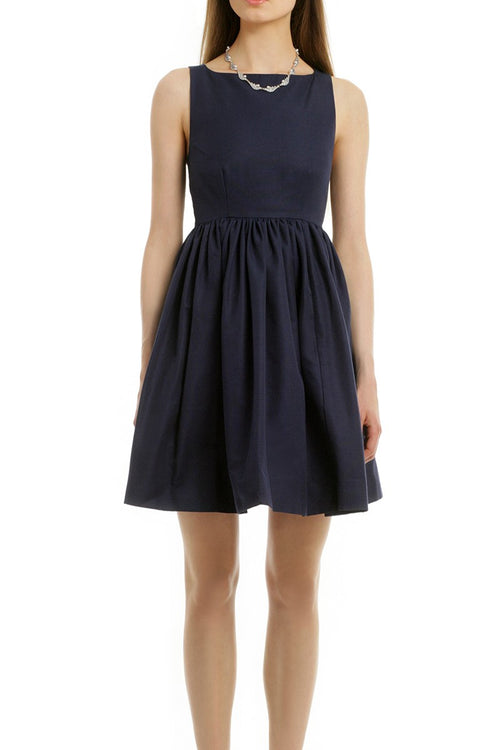 boat-neck-navy-bridesmaid-dress-short-vestido-de-dama-de-honra