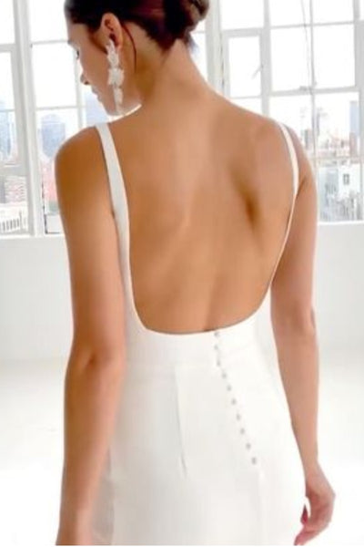 boat-neck-simple-sheath-wedding-gown-backless-1