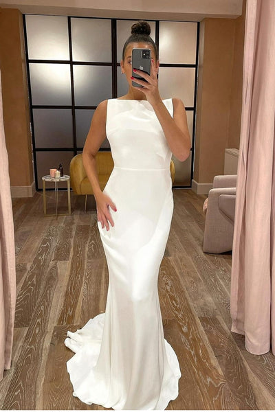 boat-neck-simple-sheath-wedding-gown-backless