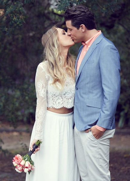 boho-chiffon-two-pieces-wedding-dresses-with-long-lace-sleeves-1