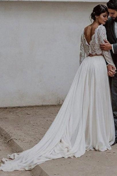 boho-lace-long-sleeves-wedding-gown-two-pieces-1