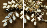 Bridal Headdress Korean Pearls Crystals Hairpin Clip Wedding Jewelry