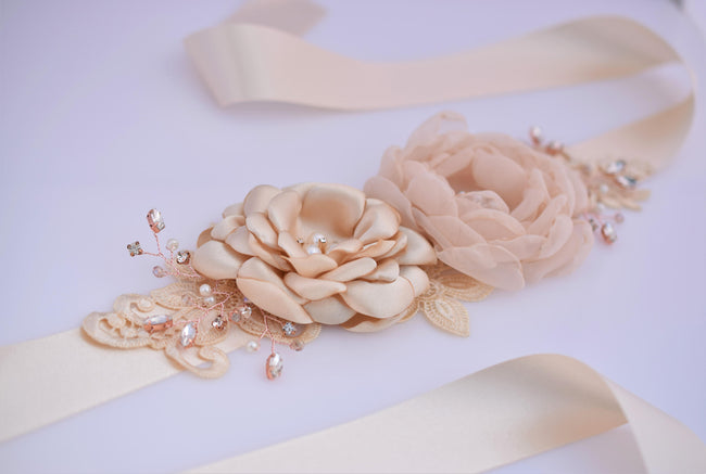 bridal-wedding-sash-handmade-flower-wedding-dress-belt-1