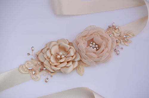 bridal-wedding-sash-handmade-flower-wedding-dress-belt
