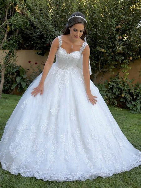 british-style-white-wedding-gown-with-lace-appliqued-train-1