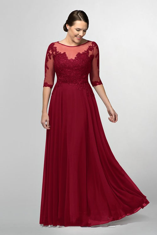 burgundy-chiffon-long-brides-mother-dresses-plus-size