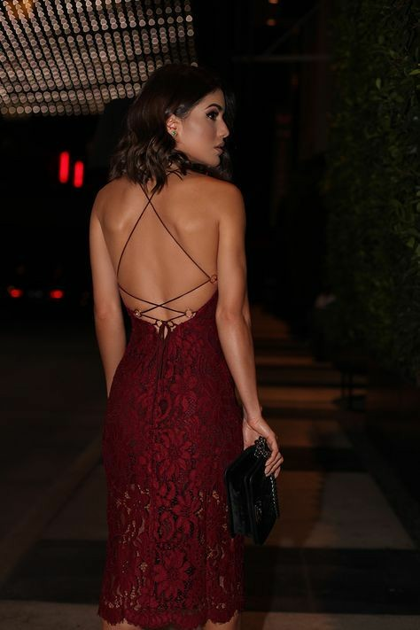burgundy-lace-cocktail-dresses-tea-length-vestido-de-coctail-1