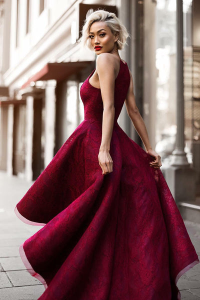 burgundy-lace-high-low-prom-dresses-with-halter-strap-1