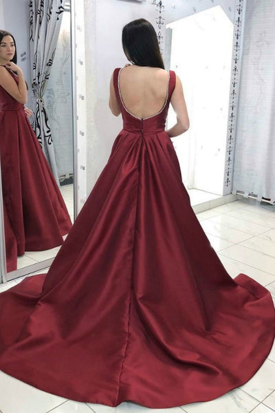 burgundy-satin-prom-long-dresses-with-deep-v-neckline-1