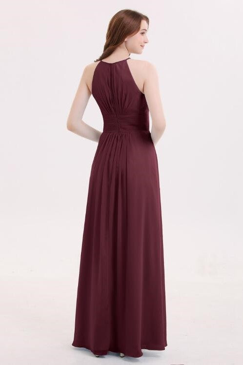 cabernet-long-chiffon-wedding-guests-dresses-with-pleated-bodice-1