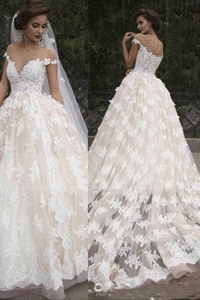 cap-sleeves-lace-wedding-dress-with-transparent-neckline-1