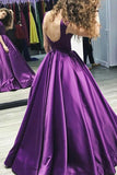 cap-sleeves-satin-purple-prom-dress-gown-backless-1