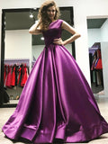 cap-sleeves-satin-purple-prom-dress-gown-backless-2
