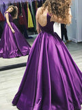 cap-sleeves-satin-purple-prom-dress-gown-backless-3
