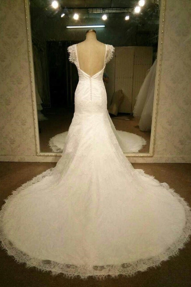 cap-sleeves-sheath-lace-wedding-dress-vintage-backless-bride-gown-1