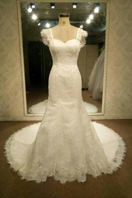cap-sleeves-sheath-lace-wedding-dress-vintage-backless-bride-gown