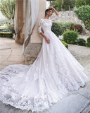 cathedral-train-white-lace-bridal-dresses-with-sleeves-vestido-de-boda-2