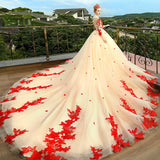champagne-long-sleeves-red-appliques-wedding-dresses-with-royal-train-1