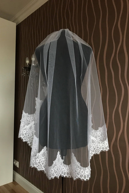 3 Meters Long Wedding Bridal Veil with Comb