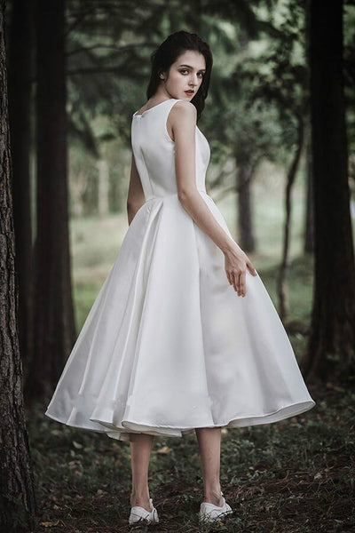 chic-sleeveless-satin-tea-length-wedding-gown-online-1