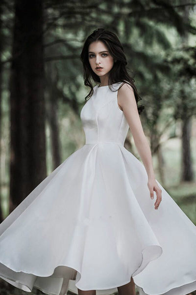 chic-sleeveless-satin-tea-length-wedding-gown-online-2