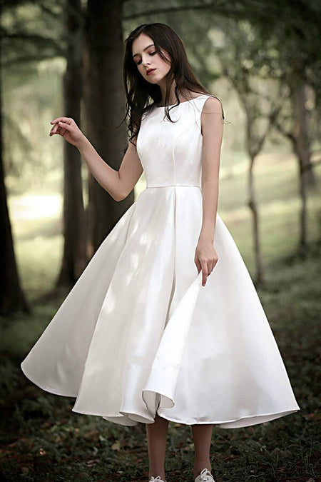 Buttons Long Sleeves Modest Sheath Bridal Dress Wedding