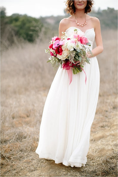 chiffon-rustic-wedding-dresses-with-lace-sweetheart-bodice-2