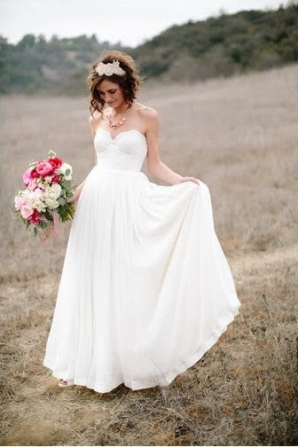 chiffon-rustic-wedding-dresses-with-lace-sweetheart-bodice