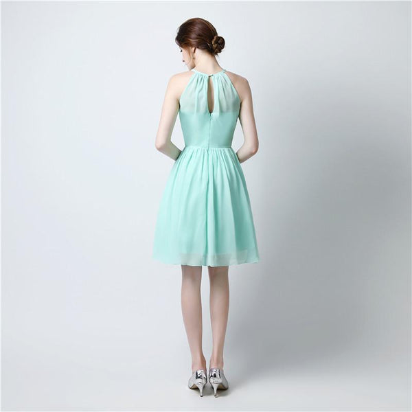 chiffon-sleeveless-mint-green-bridesmaid-dress-short