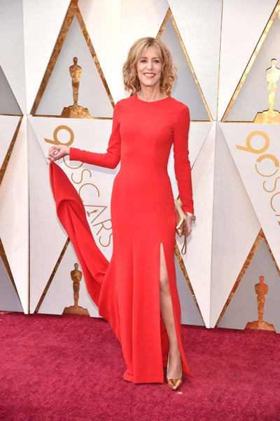 christine-lahti-red-satin-long-sleeves-prom-celebrity-dresses