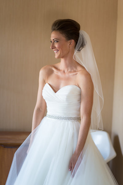 Classic Ivory Wedding Dresses with Big Bow Back