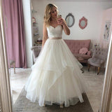 classic-lace-strapless-sweetheart-bridal-gown-with-tulle-skirt-1