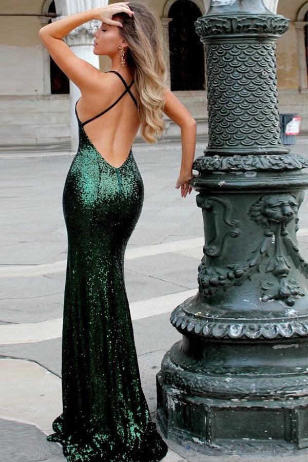 close-fitting-bodice-dark-green-sequin-prom-dresses-online-1