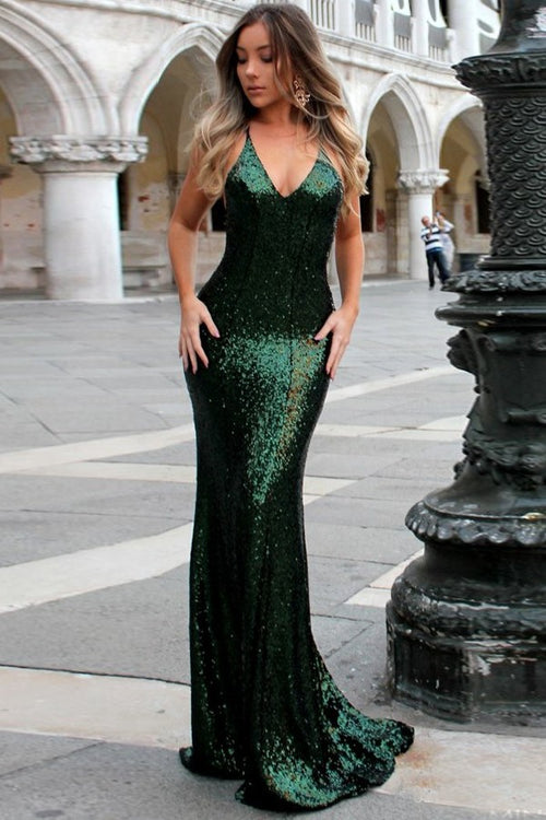 close-fitting-bodice-dark-green-sequin-prom-dresses-online