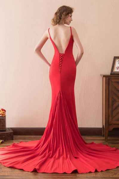 close-fitting-red-simple-prom-evening-dresses-with-pleated-train-1