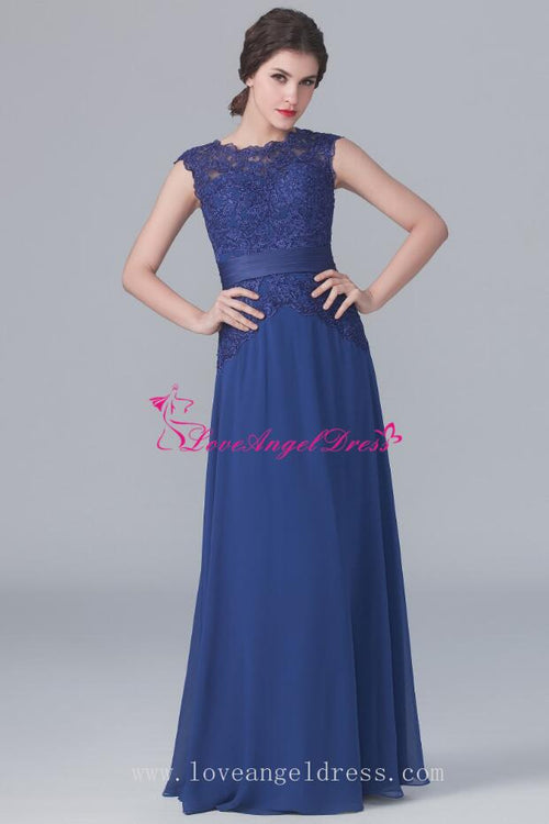 crew-neck-lace-chiffon-blue-mother-wedding-party-dresses