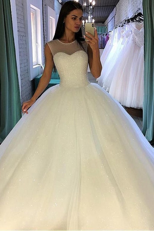 crystals-ball-gown-illusion-neckline-bridal-dress-with-sequin-tulle-skirt-1