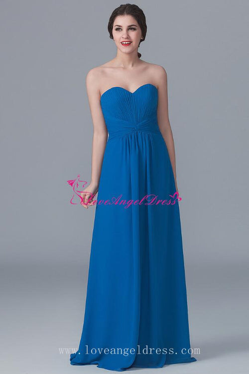 curved-strapless-a-line-blue-chiffon-bridesmaid-gown