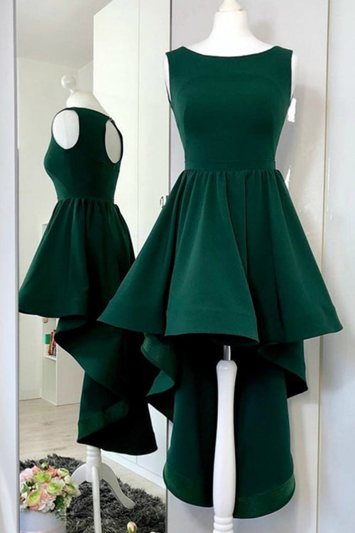 dark-green-hi-lo-party-dresses-with-keyhole-back-vestido-de-fiesta-de-graduación