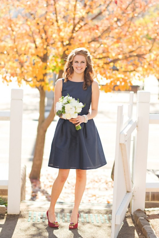 dark-navy-bridesmaid-dress-short-wedding-party-gown-simple-1