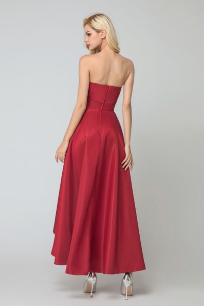 dark-red-satin-brides-maid-dresses-with-asymmetrical-hem-1