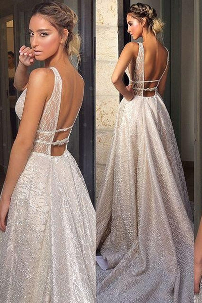 deep-v-neckline-sequin-wedding-dresses-with-open-back-1