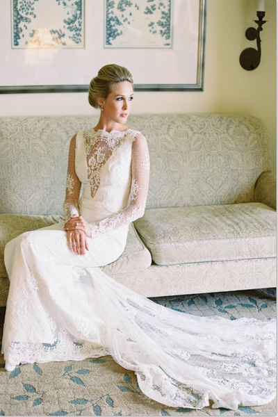 dotted-lace-long-sleeves-wedding-gown-dresses-with-illusion-neckline